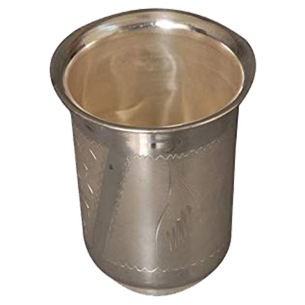Silver Coated Pure Brass Glass Capacity = 250 ml