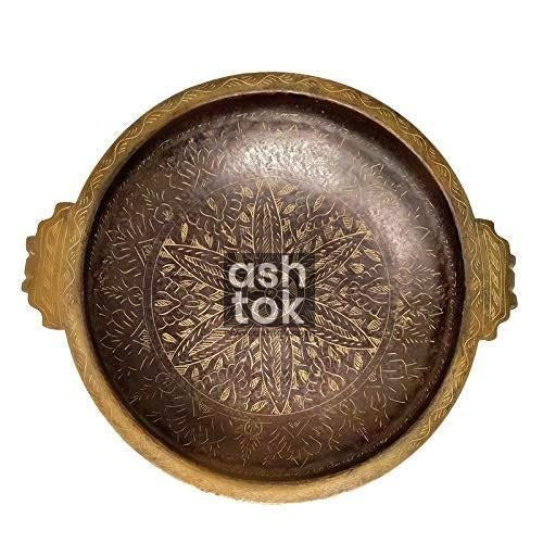 Antique Brass Urli in Brown and gold color - ashtok