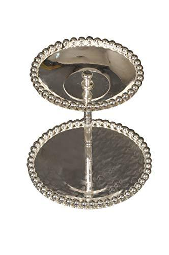 German Silver Designer Fancy Basket/Tray | Ovel Shaped | Two Step - Nutristar