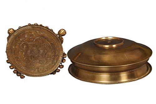 Pure Brass Antique Polish Finishing Uril and Stand - Ashtok