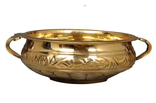 Decorative Urli Pure Brass 9 Inches (24 cm) - Ashtok