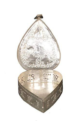 Silver Coated Paan Box Moradabad Handcrafted. - ashtok