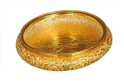 URLI Handcrafted Gold Plated Copper Urli Diameter = 14 inches (36 cm) - ashtok