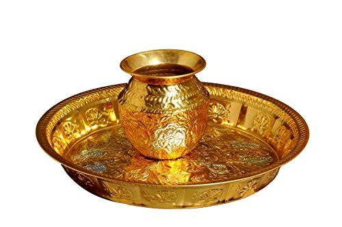 Pure Brass Parat (D=17inch) and Lota( H= 6 inch) | Handcrafted - Ashtok