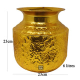 Brass Gold Plated Water Pot