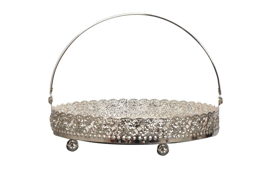 German Silver Designer Fancy Fruit Basket Diameter = 8 Inch - Nutristar