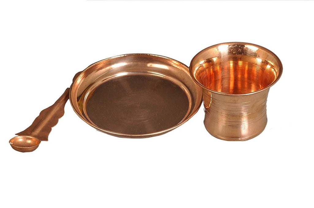 Pure Copper Puja Set. Panchpater Set - Ashtok