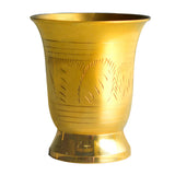 Carved Brass Glass | Capacity = 150ml - Ashtok