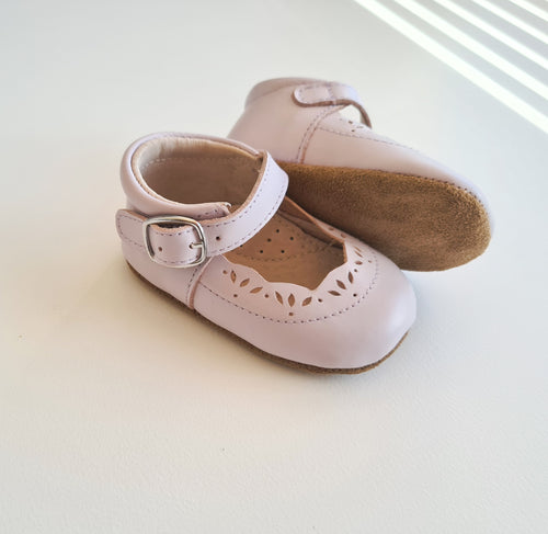 Isla Soft Sole Genuine Leather Mary Janes - Lilac