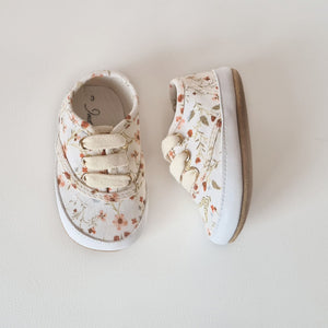 Spring Floral Canvas Sneakers - Soft Sole