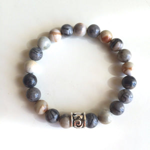 8mm Ocean Jasper Bracelet ~ Stone of Joy