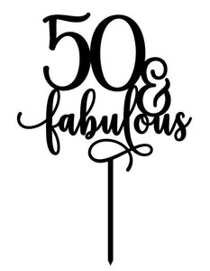 Any Number Fabulous - Cake Topper