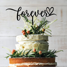 Load image into Gallery viewer, Forever Heart Cake Topper