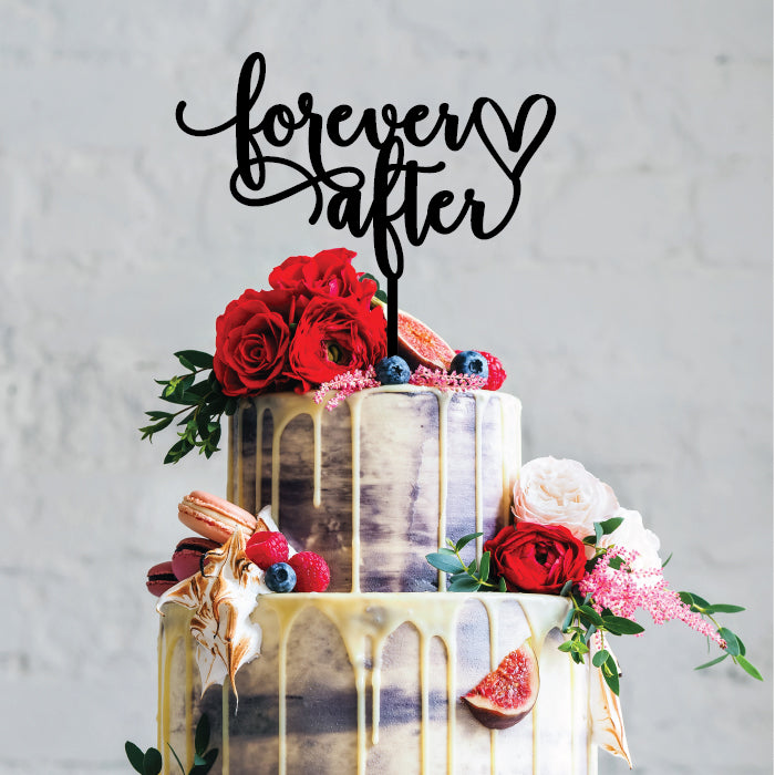Forever After - Cake Topper