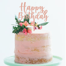 Load image into Gallery viewer, Happy Birthday Heart - Cake Topper