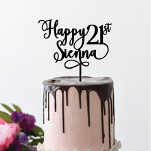 Load image into Gallery viewer, Happy Number Name - Cake Topper