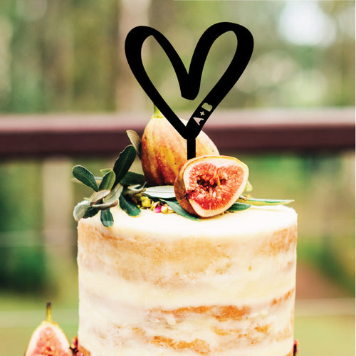Heart Cutout - Cake Topper