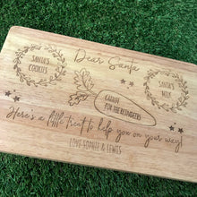 Load image into Gallery viewer, Personalised Santa treat serving board
