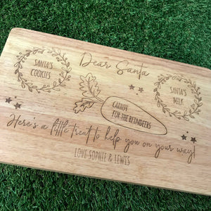 Personalised Santa treat serving board