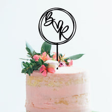 Load image into Gallery viewer, Initials Hoop - Cake Topper