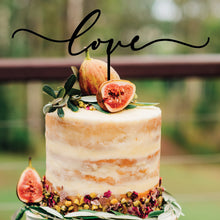 Load image into Gallery viewer, Modern Love Cake Topper