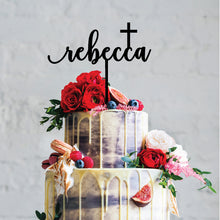 Load image into Gallery viewer, Name Cross - Religious Cake Topper