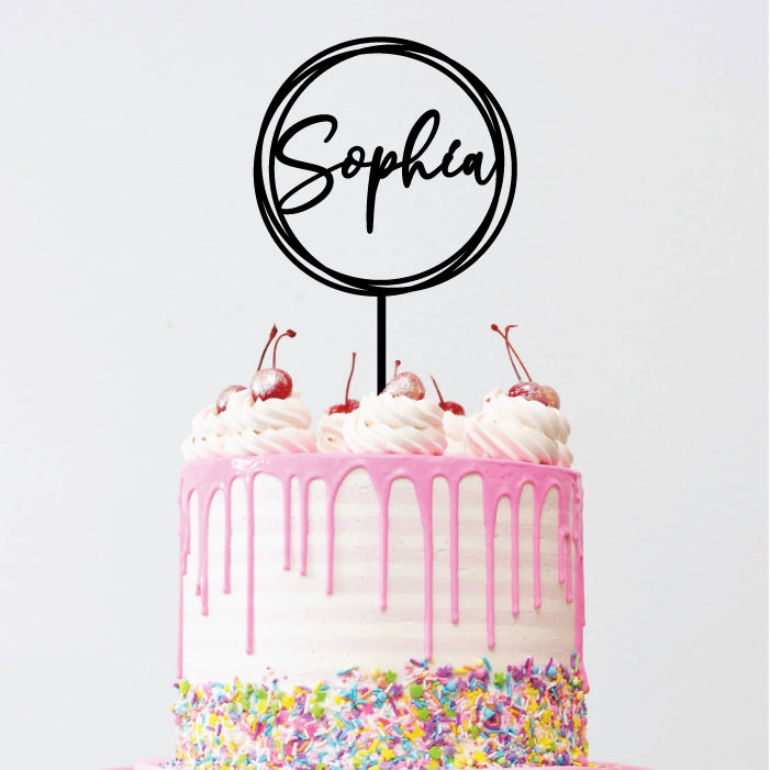 Name Hoop - Cake Topper