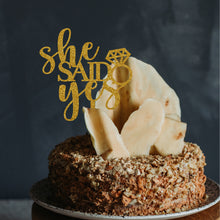 Load image into Gallery viewer, She Said Yes Cake Topper
