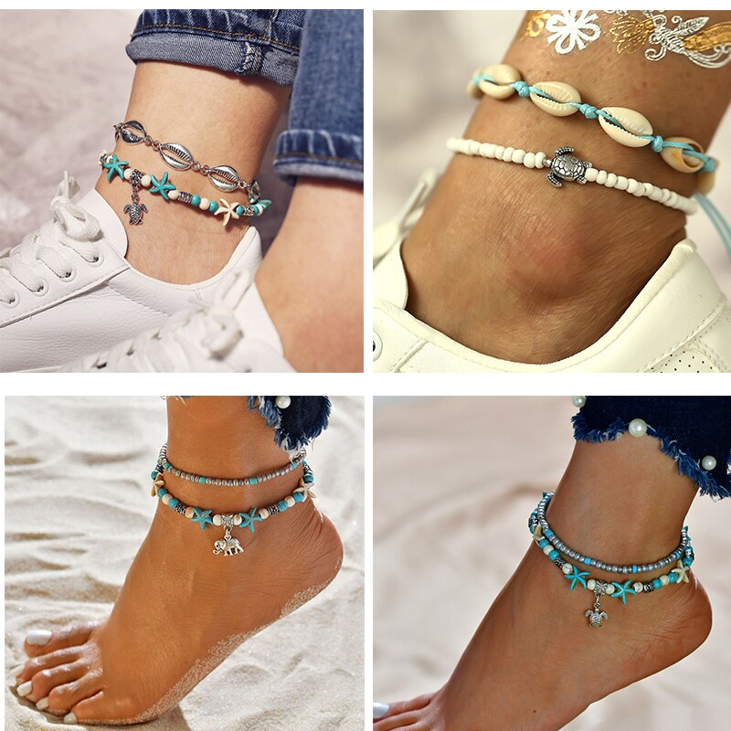 Beach Anklet Sets - Boho Girl Jewellery