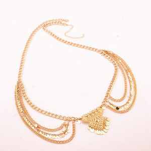 Multi Layer Drop Chain Body Chains - Boho Girl Jewellery