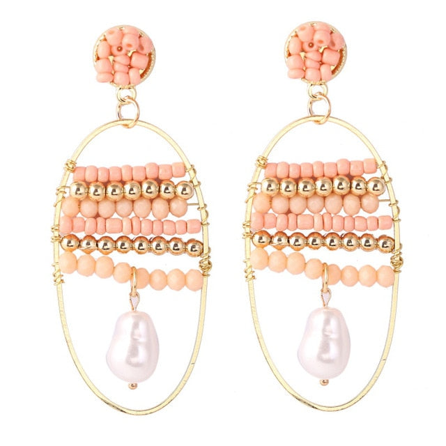 Beaded Hoop Earrings - Boho Girl Jewellery