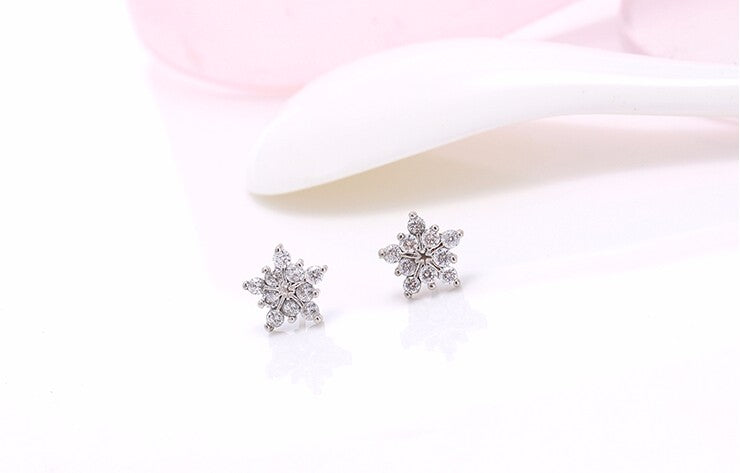 Ice Flower Sterling Silver Earrings - Boho Girl Jewellery
