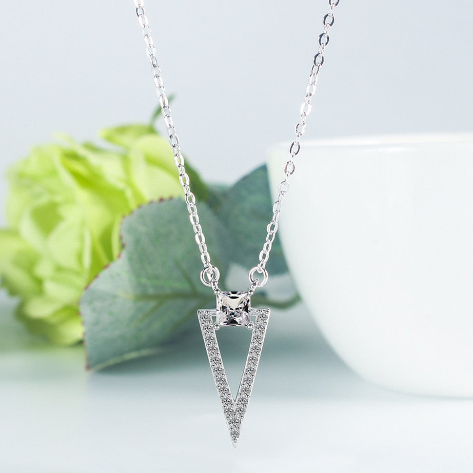 Triangle Sterling Silver Pendant Necklace