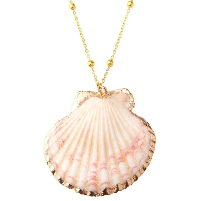 Gold Cowrie Shell Necklaces - Boho Girl Jewellery