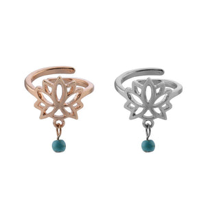 Lotus Flower Adjustable Toe Ring - Boho Girl Jewellery