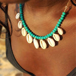 Load image into Gallery viewer, Coloured Bead Puka Shell Necklace