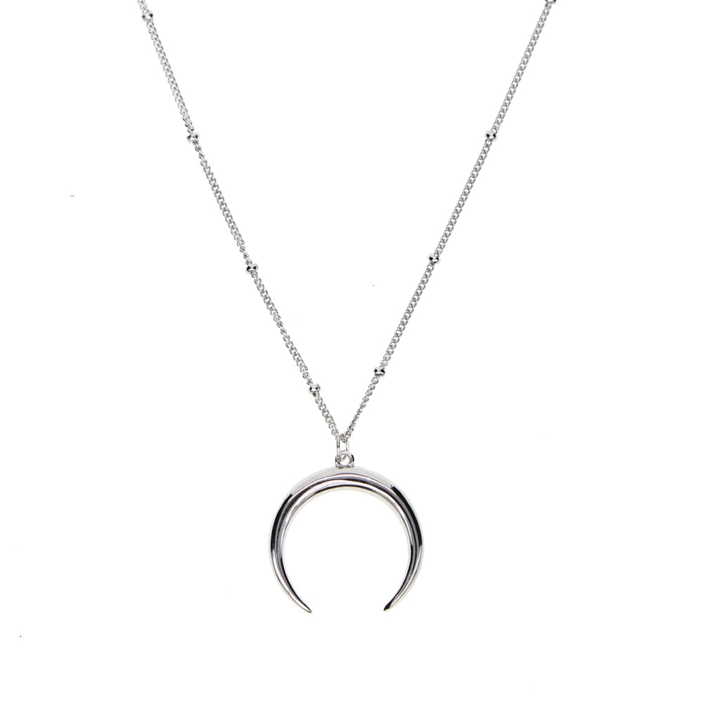 Ox Horn Sterling Silver Necklace