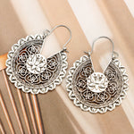 Load image into Gallery viewer, Carved Lotus Flower Earrings