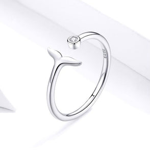 Open Mermaid Tail Sterling Silver Ring