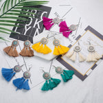 Load image into Gallery viewer, Coloured Tassel Earrings - Boho Girl Jewellery