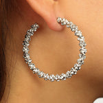 Load image into Gallery viewer, Cluster Hoop Earrings