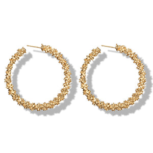 Cluster Hoop Earrings