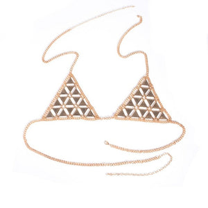 Geometry Triangle Bra Body Chain