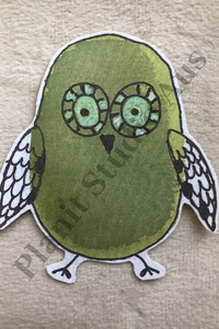 I. Stickers Pre-Cut - Quirky Bird Green