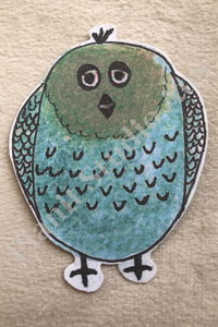I. Stickers Pre-Cut - Quirky Bird Blue/Green