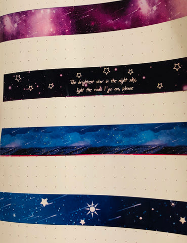 W. High Gloss Tape- Fantasy Galaxy Dark Blue