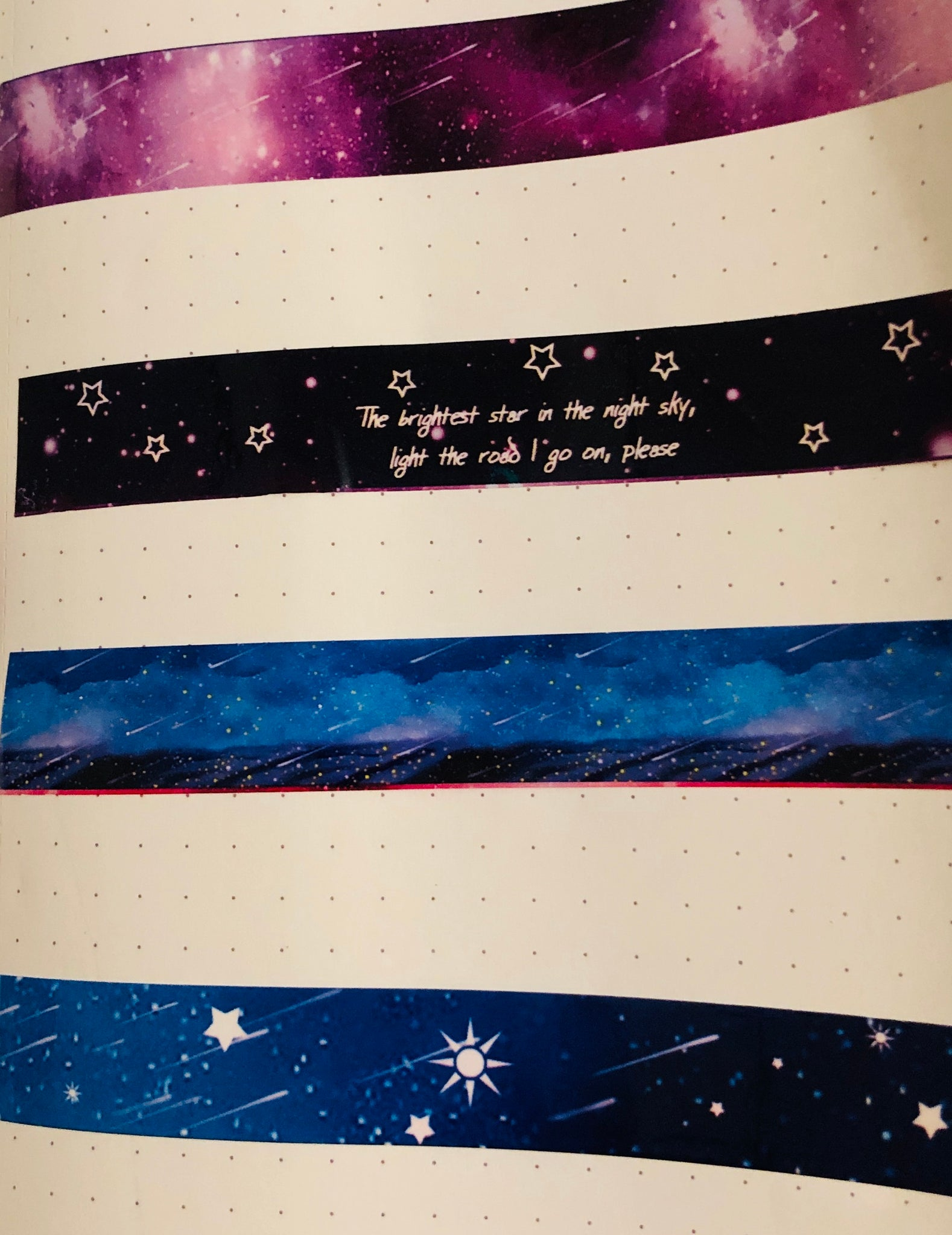 W. High Gloss Tape - Fantasy Galaxy Black