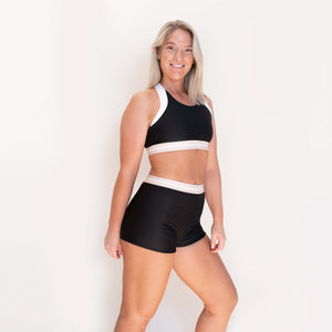 AVALON SPORT SHORTS - BLACK