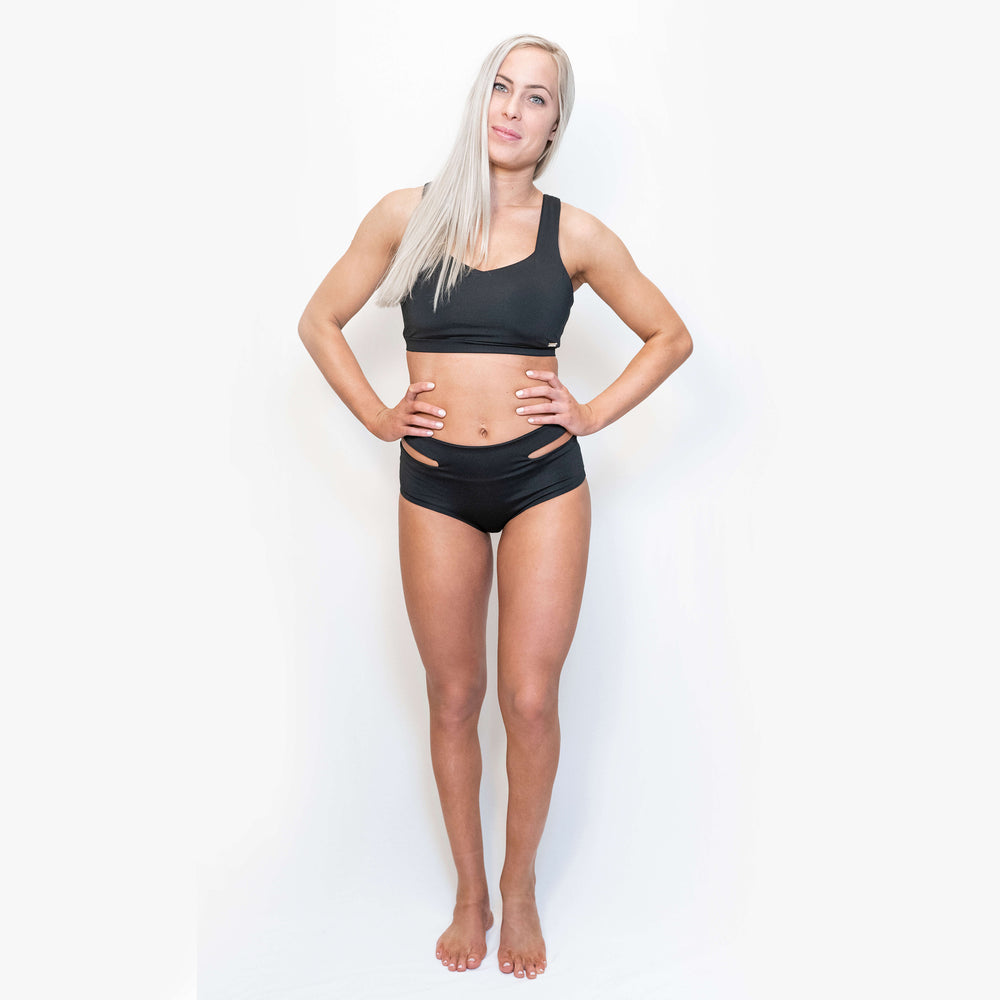 Load image into Gallery viewer, JADE SPORT SHORTS - BLACK