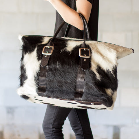 Bella Cowhide Overnight Bag